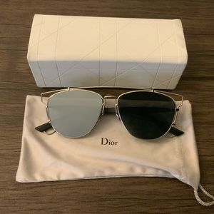 "Dior ""Technological"" Silver Mirrored Sunglasses"